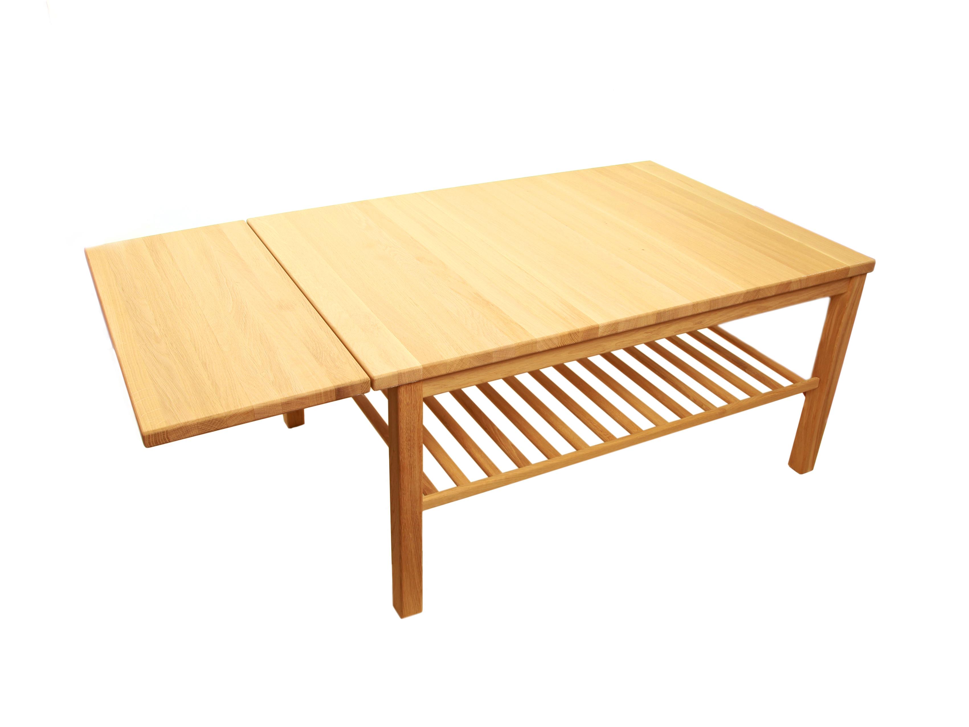 Moderne ND Sofabord Med hylde og Klap - Danbo Møbler JZ-24